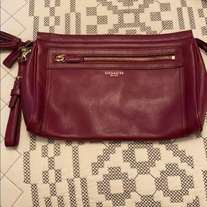 Coach leather Wristlet, like new